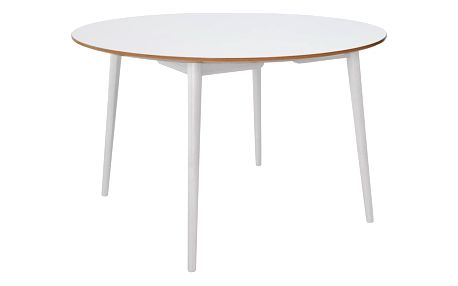 Jídelní stůl RGE Trim, bílá deska/bílé nohy - doprava zdarma!