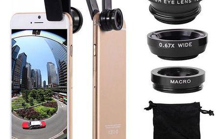 Objektiv na telefon 3v1 - různé barvy