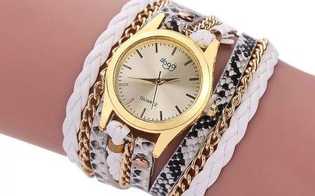 Dámské hodinky s vícevrstvým páskem v 8 barevných variantách