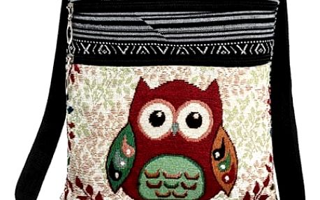 Dámská kabelka s motivy barevných soviček