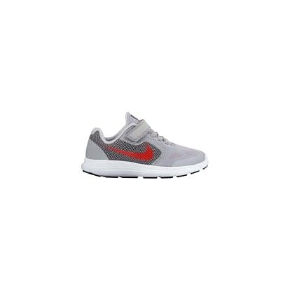 Dětské tenisky Nike REVOLUTION 3 (PSV) 35 WOLF GREY/MAX ORANGE-BLACK-WHI