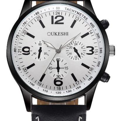 LK shop Analogové vodotěsné hodinky Barva: černá + bílá