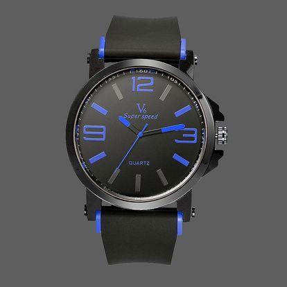 LK shop Módní pánské hodinky Barva: modrá