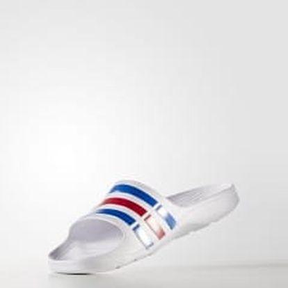 Pánské nazouváky adidas Performance Duramo Slide 42 WHT/TRUBLU/RED