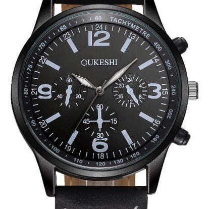 LK shop Analogové vodotěsné hodinky Barva: černá + černá