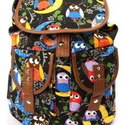 Stylový dámský batoh OWL