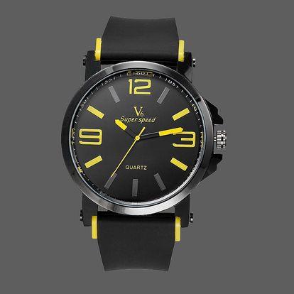 LK shop Módní pánské hodinky Barva: žlutá