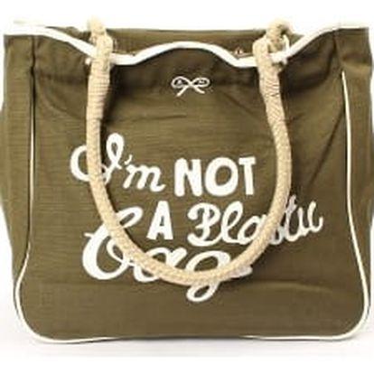 Moderní dámská plážová taška khaki