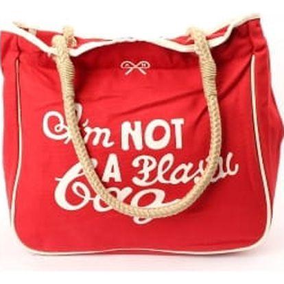 Moderní dámská plážová taška červená