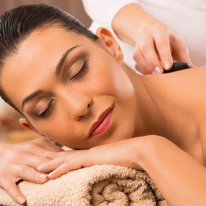 55minutová masáž nahřátými lávovými kameny