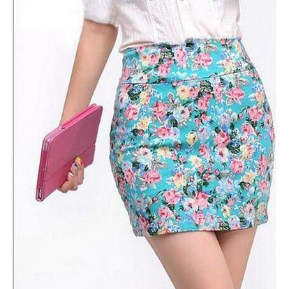 Vintage elastická květinová sukně - 5 variant