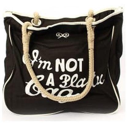 Moderní dámská plážová taška černá