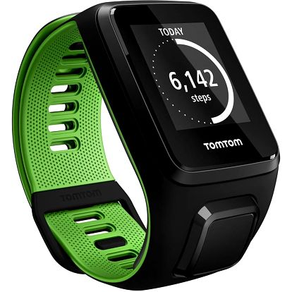 TOMTOM Runner 3 Cardio + Music (L), černá/zelená - 1RKM.001.00