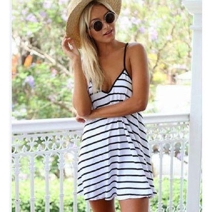 Dámské letní šaty s odhalenými zády
