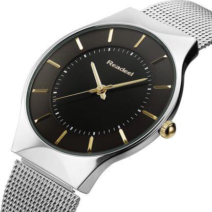 LK shop Elegantní ocelové hodinky Barva: černá