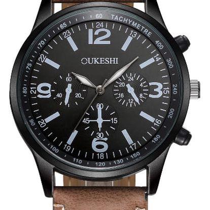 LK shop Analogové vodotěsné hodinky Barva: hnědá + černá