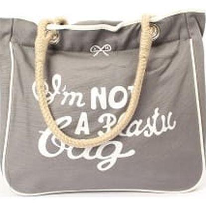Moderní dámská plážová taška šedá