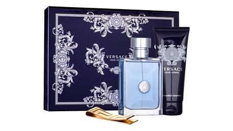 Versace Pour Homme dárková kazeta pro muže toaletní voda 100 ml + sprchový gel 100 ml + spona na bankovky