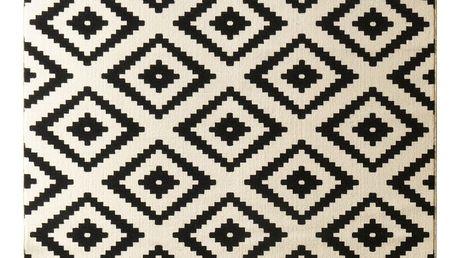 Černý koberec Hanse Home Hamla Diamond, 120x170cm