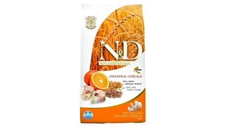 Granule N&D Low Grain DOG Adult Codfish & Orange 12 kg + Doprava zdarma