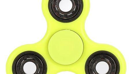 Světelný fidget spinner žlutý