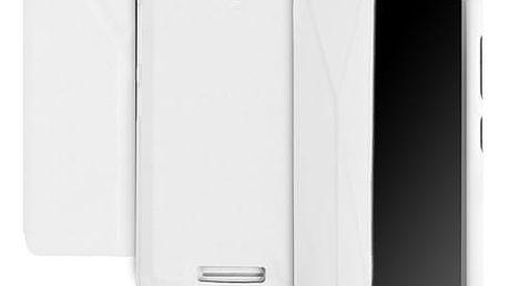 Pouzdro na mobil flipové GoGEN pro Lenovo A5000 (GOGCASEA5000W) bílé
