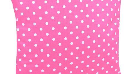 Bavlněný polštář PUNTINI růžová 40x40 cm, Mybesthome Varianta: Povlak na polštář s výplní, 40x40 cm