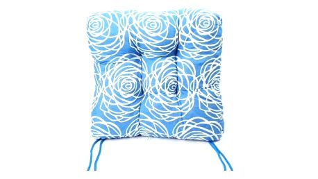 Sada 6 ks zahradních podsedáků blue flower