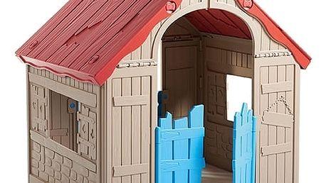 Rojaplast Domek FOLDABLE PLAYHOUSE - červená+žlutá+světle modrá - 11640122