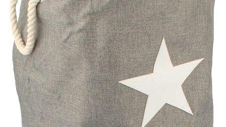 Dakls Textilní koš na prádlo Star, šedá