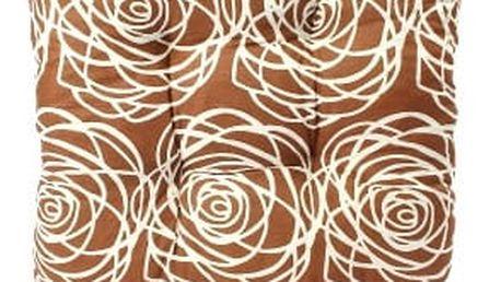 Sada 6 ks zahradních podsedáků brown flower