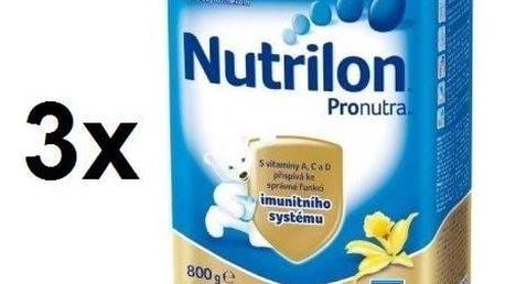 Kojenecké mléko Nutrilon 5 Pronutra Vanilka, 800g x 3ks