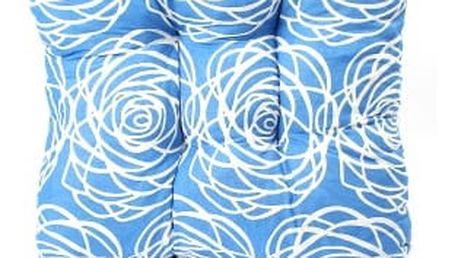 Sada 4 ks zahradních podsedáků blue flower