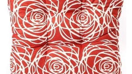 Sada 4 ks zahradních podsedáků red flower