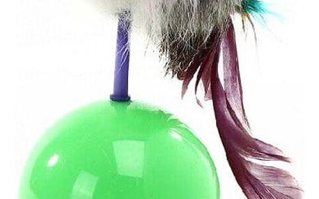 Interaktivní hračka pro kočky - myš na míčku