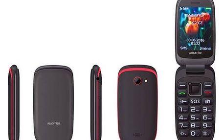 Mobilní telefon Aligator V400 Senior (AV400BR) černý/červený Software F-Secure SAFE 6 měsíců pro 3 zařízení (zdarma)