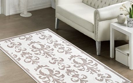 Béžový odolný koberec Vitaus Grace, 60x90cm