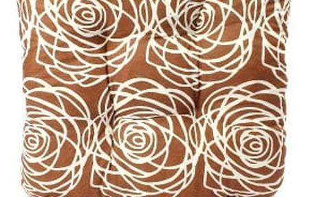 Sada 4 ks zahradních podsedáků brown flower
