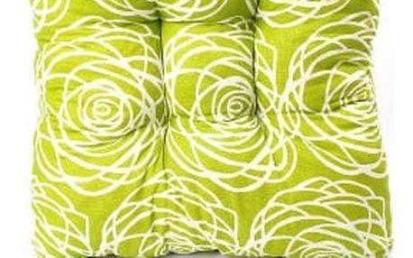 Sada 4 ks zahradních podsedáků green flower