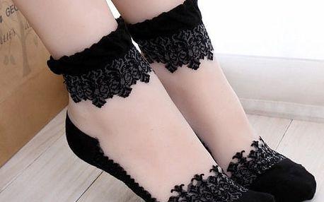 Krajkované sexy ponožky - dodání do 2 dnů