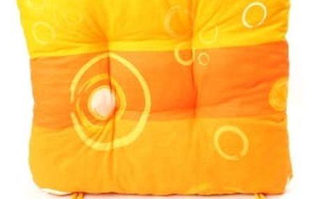 Sada 6 ks zahradních podsedáků orange rings