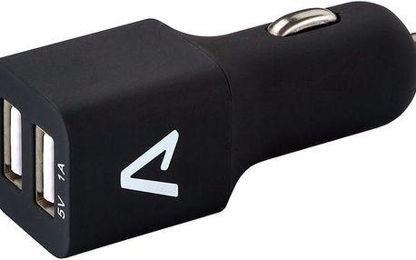 LAMAX Tech USB Car Charger 3.4A - USB nabíječka do auta (2x USB) - černá - 8594175351262