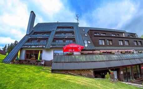 Hotel Šedý Vlk *** v centru Harrachova s polopenzí a bazénem