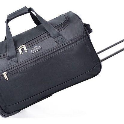 Černá cestovní taška na kolečkách Hero,43l - doprava zdarma!
