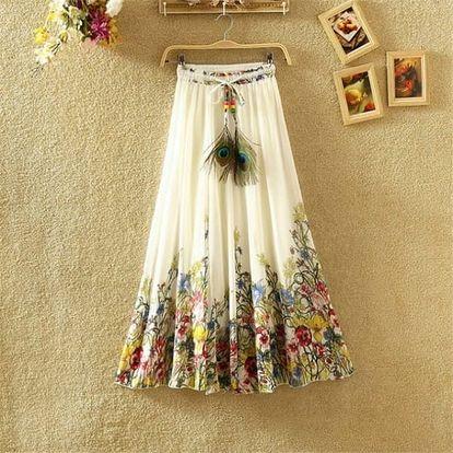 Lehká dlouhá letní sukně - varianta 13