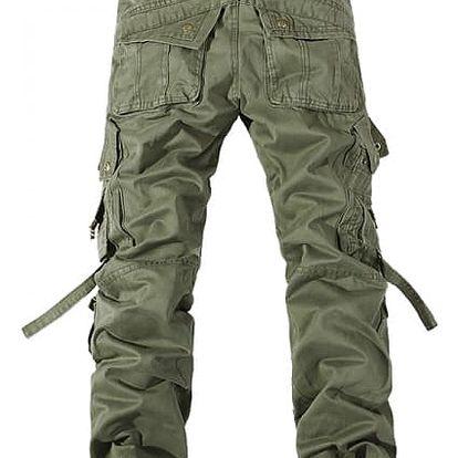 Pánské kalhoty s kapsami - Zelená - 4