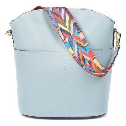 Světle modrá kožená kabelka Luisa Vannini Clorinda - doprava zdarma!