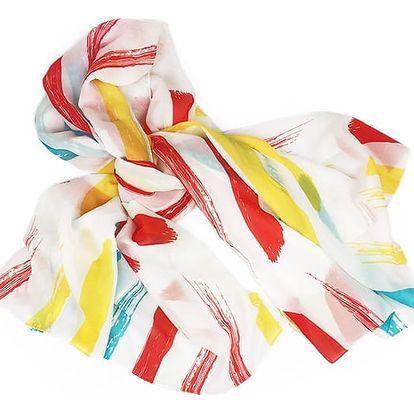 Plážový šátek - pruhovaný