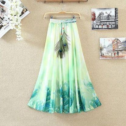 Lehká dlouhá letní sukně - varianta 15