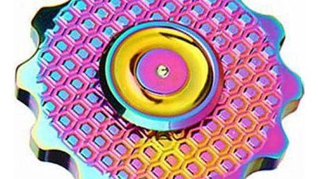 Barevný fidget spinner ve tvaru kytičky